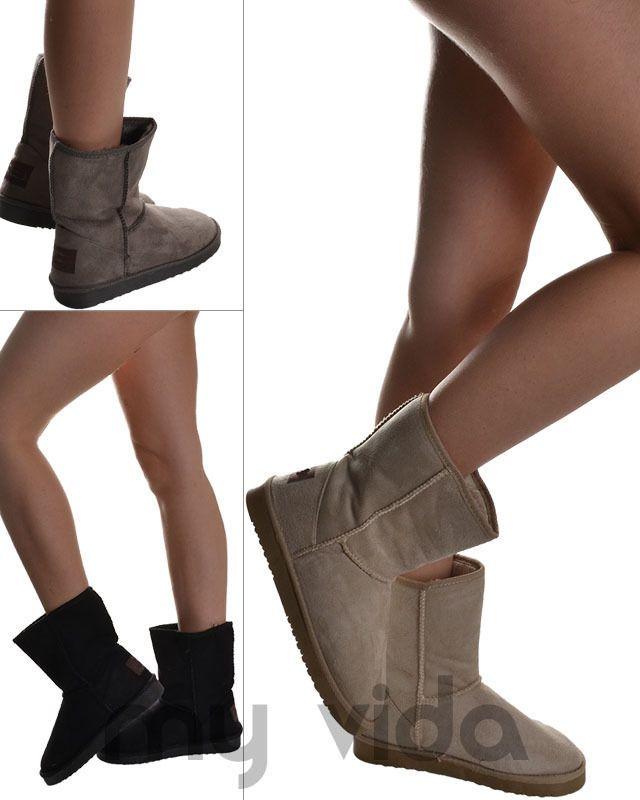 Scarpe donna stivali stivaletti doposci boots scamosciati bassi Mod B48