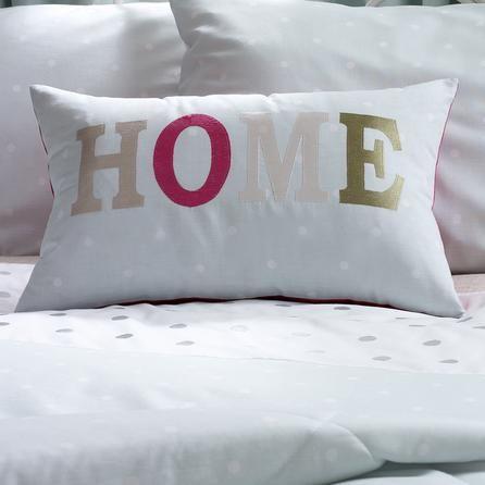 duck egg country spot collection boudoir cushion in blackwhite