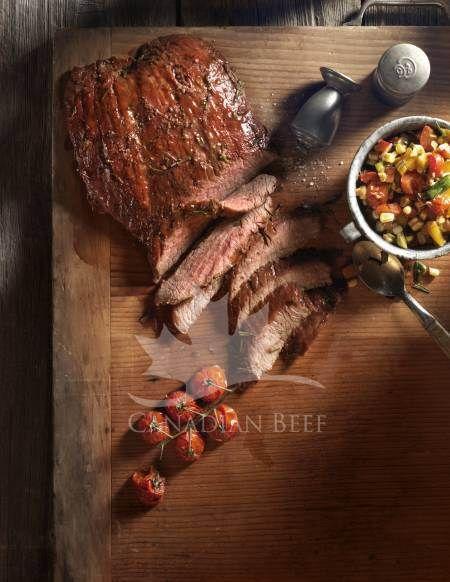Cedar smoked beef