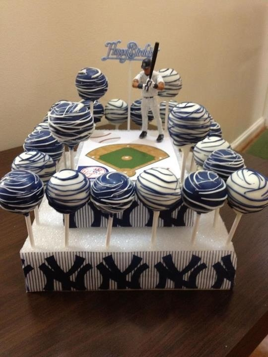 New York Yankees Cake Pops