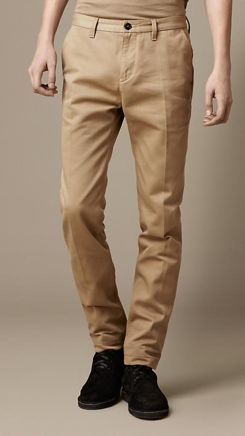 Slim Fit Cotton Chinos $195 | Mens #Chino #Mens #DressCode