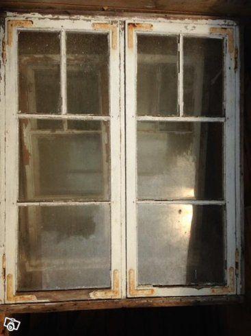 Fönster, tegel efter rivning, flaggstång | Östergötland