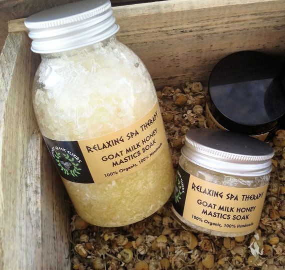 RELAXING SPA THERAPY Goat milk mastic & by AncientGreekElixirs