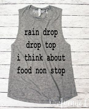 I Think About Food Non Stop Muscle Tank - Popular Muscle Tank - Fun Workout Tanks here! Vintage Graphic Tees. Our tees are super soft and cozy. You will want to live in them! Check out our other graphic tees and items here: www.theavenuel.com We have tons of graphic tee for women, grahic tees for teens, vintage graphic tees and graphic tee outfit ideas. #teesforteens