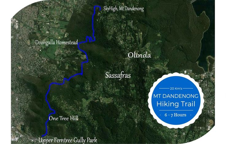 Mt Dandenong Hiking Trail. 20 km's | 6/8 hours - One-Way