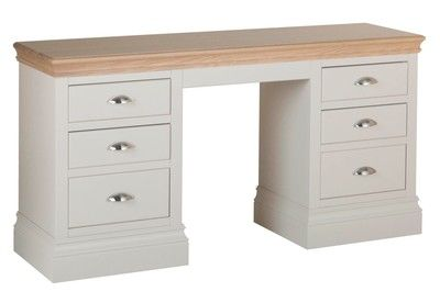 Lundy Pine Double Pedestal Dressing Table
