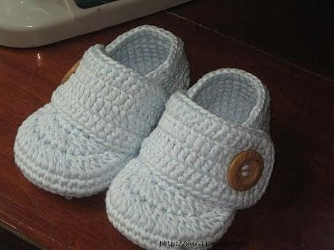 How to crochet boots children