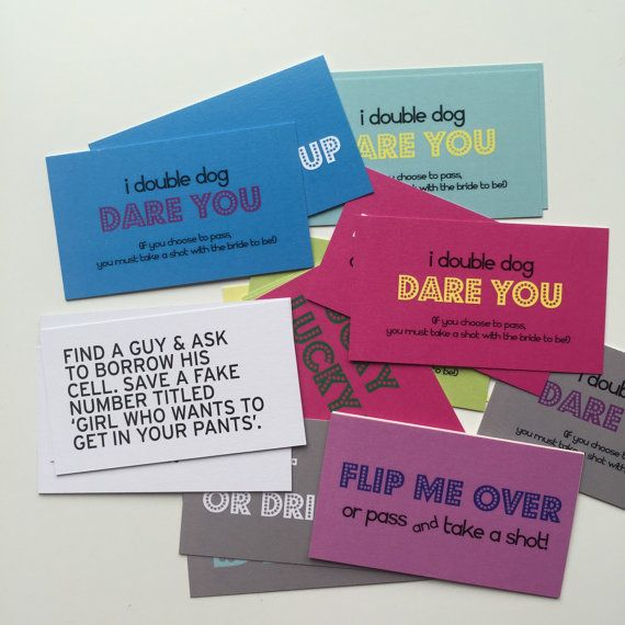 25 Dare Cards  Bachelorette Party Pack v.1 by GoldTinselShop