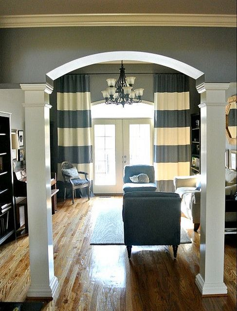 Horizontal striped panels home is where the