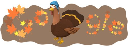 Thanksgiving Day Google Logo Serves Up An Animated Turkey For The Holiday #Thanksgiving #GoogleDoodle #Turkey