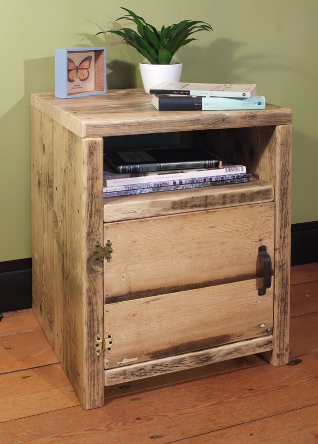 beautiful, reclaimed timber, bedside table, bedside cabinet, victorian floor boards, relic interiors, industrial, upcycled, contemporary furniture, scaffold furniture, recycled wood furniture, living room shelving, vintage door handles