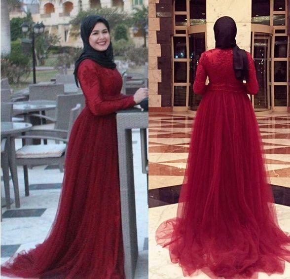 Tesettur Kirmizi Tul Abiye Modelleri The Dress Gelin Elbisesi Moda Stilleri
