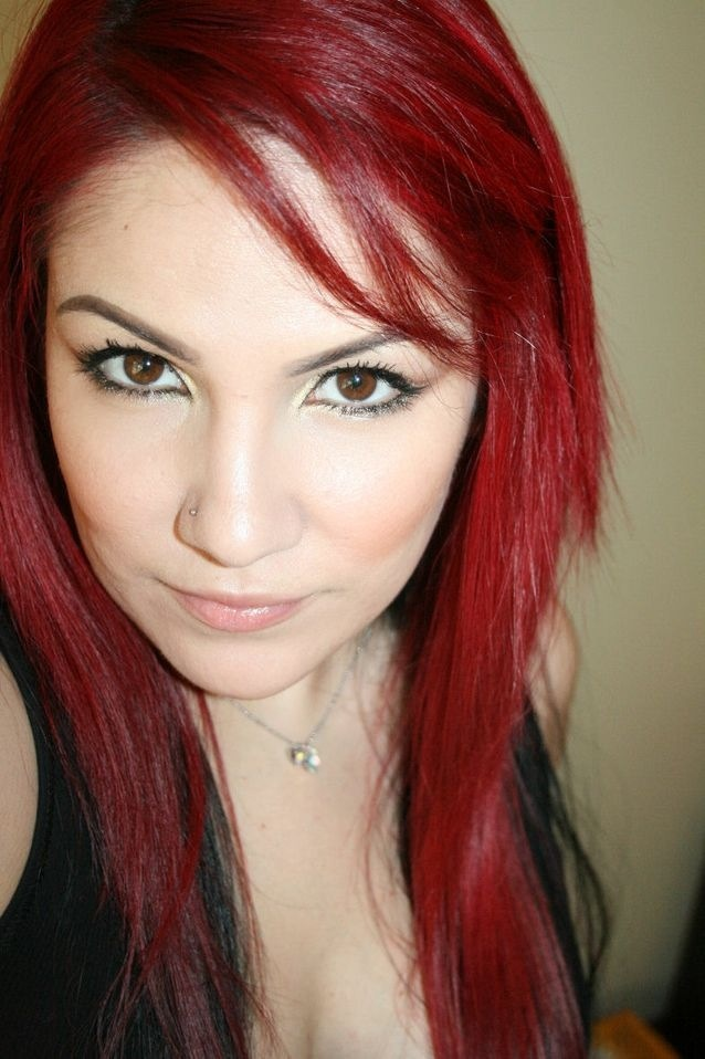 Red-- my hair