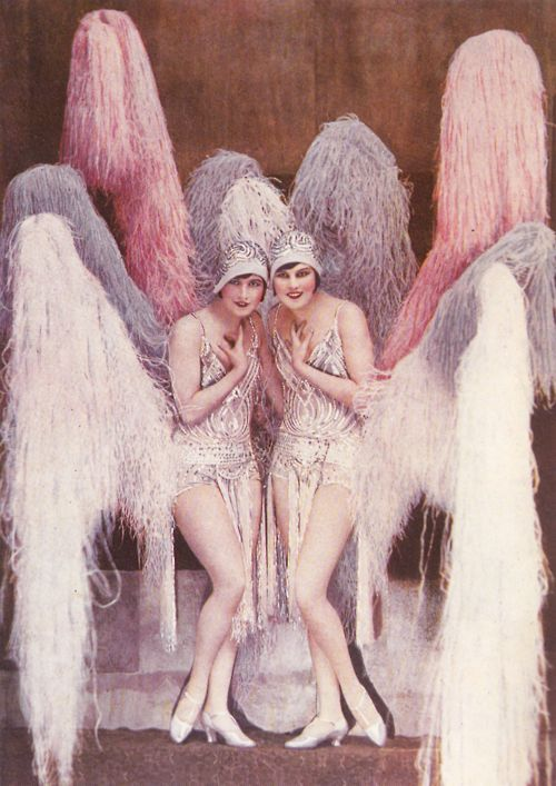 Les soeurs Epp   Kittyinva: Probably at the Folies Bergere, as I have another photo of them from there. 1920's.