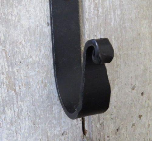 CAST IRON HOOK Hand Forged Double Coat Tree Farmhouse Wall Hook Amish Blacksmith
