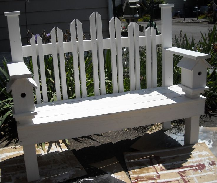 18 Best Images About Birdhouse Benches On Pinterest