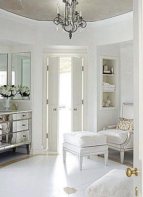 silver & white decor .