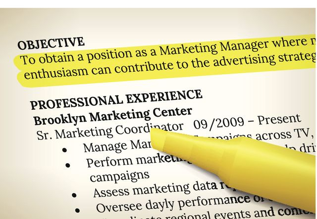 Sections of a Resume Examples: Resume Objective Example