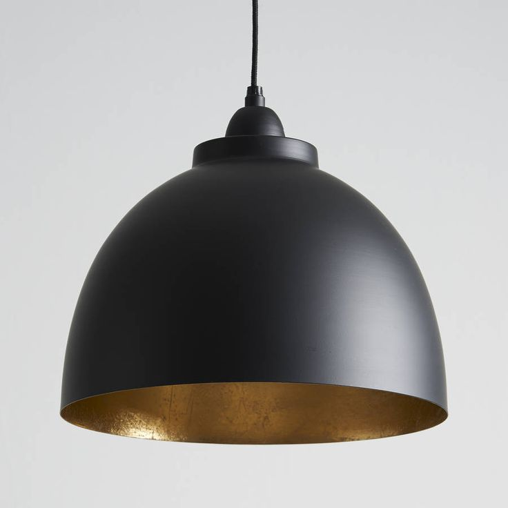 Black and gold pendant light!This stunning, ide, for a lovely warm glow! It looks great lit or unlit. It comes with approximately 110cm of flex that can be shortened to any length and matching black aluminium rose. Ideal in kitchens, dining rooms, hallways or living rooms, they look great on their own and also in 2s or 3s. Takes a standard E27 bulb up to 40W (or low energy equivalent).Aluminium30cm dia x 26cm high.