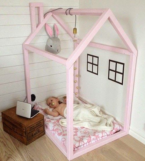 House shaped bed frame home bunk loft beds On the floor bed frames