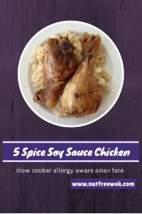 5 Spice Soy Sauce Chicken, a Slow Cooker Recipe that is easy and delicious.