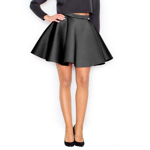 Produkty :: ŽENY :: Oblečenie :: Sukne :: Dámska čierna kolesová sukňa FIGL M340 - vel'. XL - Produkty