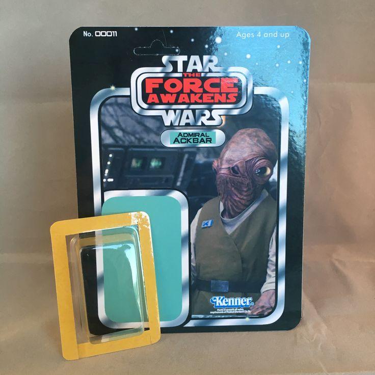 Star Wars The Force Awakens Custom Kit 11 Admiral Ackbar Minifigure card