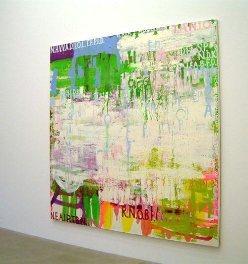 Olav Christopher Jenssen, Palindrome No.10, 2000. Acryl und Öl auf Leinwand, 302 x 312 cm