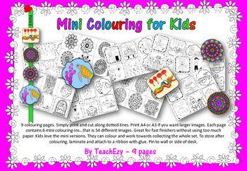 Mini Coloring for Kids