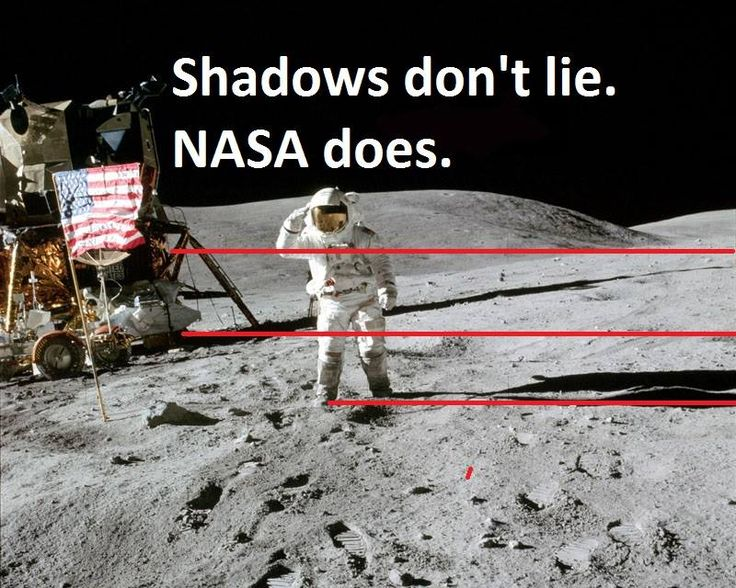 moon landing conspiracy shadows - photo #11