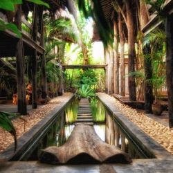 Ku the Chinese word for emptyness, is a boutique hotel in Goa, India, modeled like a luxe treehouse set a midst a bamboo forest.