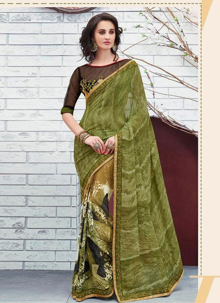 Online shopping of saree, latest saree designs, saree collection online. Grab this urbane multi colour printed saree for casual and party.