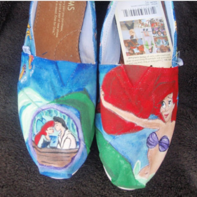 Hand painted Little Mermaid TOMS on Etsy. i really feel like i must have these