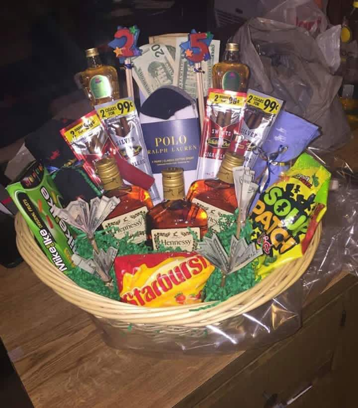 Birthday basket for him