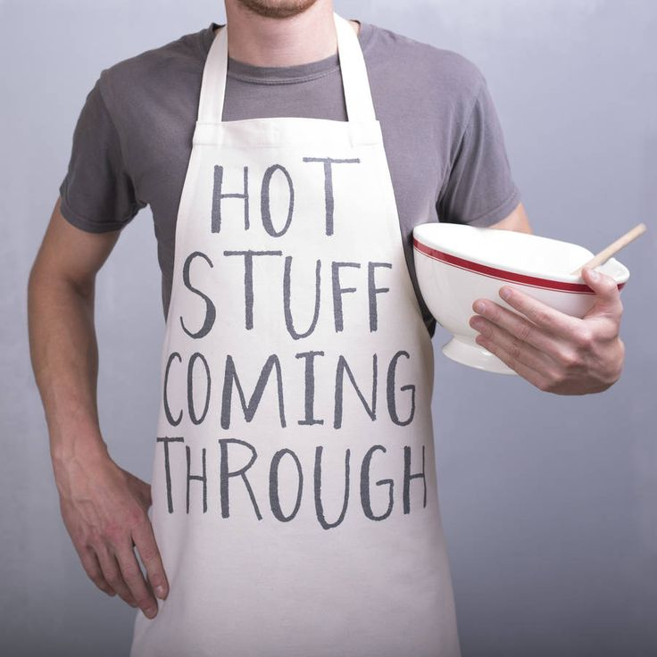 Love this Funny 'Hot Stuff Coming Through' Apron! Oakdene Designs also do other aprons including personalised ones, perfect as a gift during the brief BBQ season!