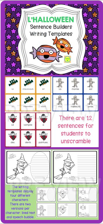 """$ Have students unscramble 12 sentences and then practice some Halloween writing. They'll have so much fun they won't even notice they're """"working""""."""