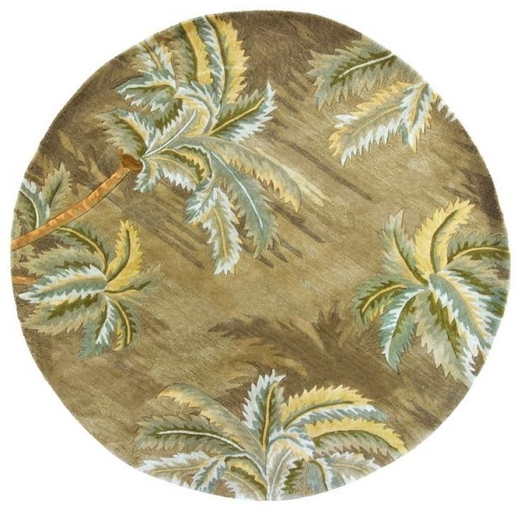 Round Tropical Area Rugs
