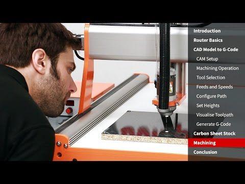 Make Precision Carbon Fibre Parts Using A Desktop CNC Router - YouTube