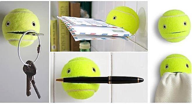 pelota de tennis con múltiples usos