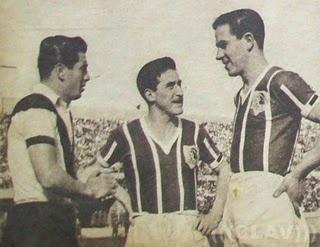 Cua Cua Hormazabal (jugando por Morning), Atilio Cremaschi y Jorge Robledo