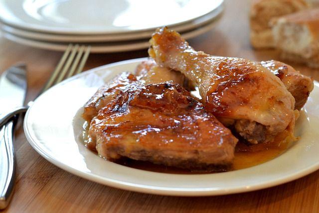 Orange Sauce Chicken- 2ingredients: Orange Duck Sauce and Chicken ...