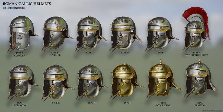 Roman Gallic Helmet Variations by RobbieMcSweeney on DeviantArt