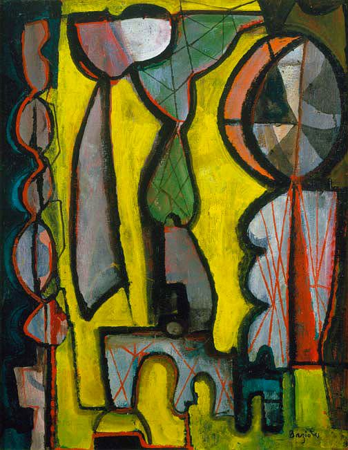 Woman at Window (1946). William Baziotes (1912-1963) was an American painter influenced by Surrealism and was a contributor to Abstract Expressionism. n the 1940s he became friends with many artists in the emerging Abstract Expressionist group. Although he shared the groups' interest in primitive art and automatism, his work was more in line with European surrealism.