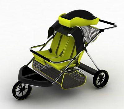 Tuvie, design of the future-pushchair design for 3 children