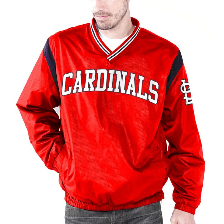 St. Louis Cardinals Wild Pitch V-Neck Pullover Jacket - Red - $47.99