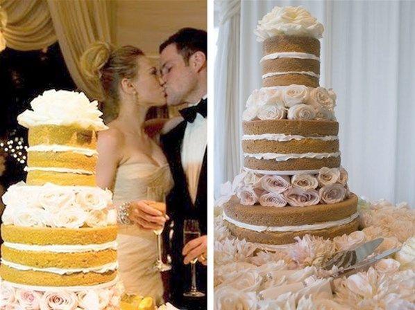 Quando a cantora e atriz Hilary Duff se casou com o jogador de hóquei Mike Comrie em agosto de 2010, o bolo da festa chamou a atenção: ela optou por um naked cake! A partir de então, as noivas ligadas nas tendências começaram a pesquisar sobre a novidade.