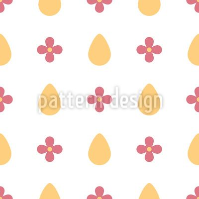 Eggs and flowers Pattern Design Pattern Design by Elena Alimpieva at patterndesigns.com