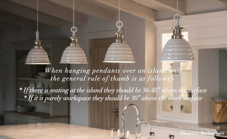 Interior Design Advice, Tip, Quote, Josephine Burlingham. Photo:- Neptune Kitchens, lights - Neptune Tennyson pendants.