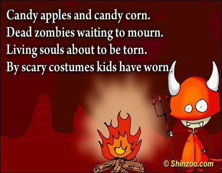 halloween quotes 013 candy apples and candy corn - Kids Halloween Quotes