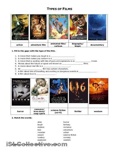 Movie Worksheets For Students : Worksheets esl and film on pinterest